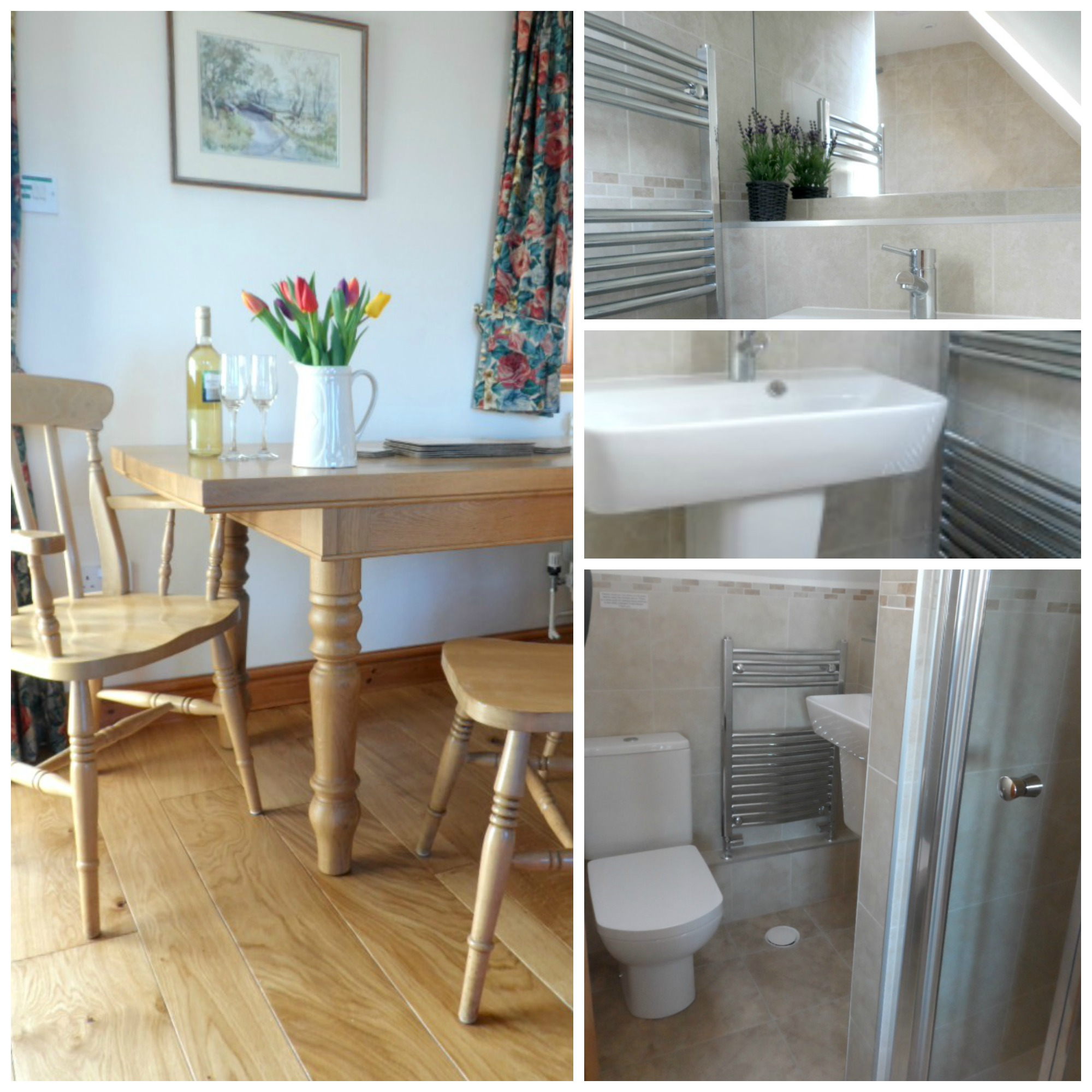 New Bathrooms and Oak Flooring in Sleeplate Cottage, Warwickshire stay in a farm cottage Warwickshire near Stratford