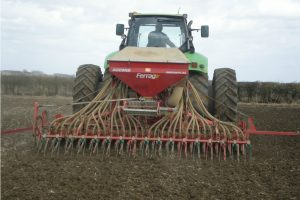 On the farm drilling spring crops